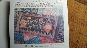 Punch Needle Rug Hooking Primitive Rug Hooking Wool Applique Hand Dyed Wool Punch Needle