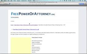 Texas Power Of Attorney Forms by How To Fill Out A New Mexico Power Of Attorney Form Youtube