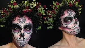 halloween 2016 sugar skull makeu up for a boy calavera make up
