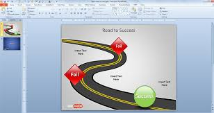 free road to success powerpoint template free powerpoint