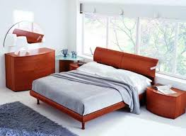 bedroom interior design ideas using curved bases and headboard