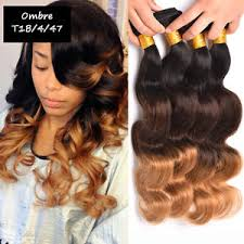 ombre weave unprocessed human hair ombre weave wave 300g