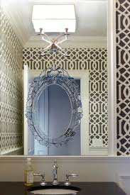 Venetian Mirror Bathroom by Powder Room Photos Hgtv With Patterned Wallpaper And Venetian