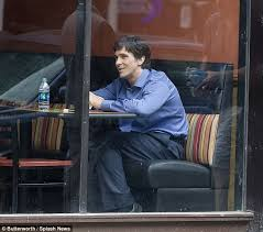bale needs a hair cut christian bale chows down in subway during filming break on set of
