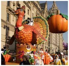 macy s thanksgiving day parade tom turkey leads the floats