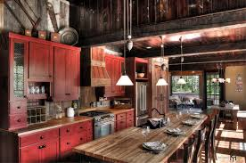 Barn Board Kitchen Cabinets by Rustic Red Kitchen Cabinets Zamp Co