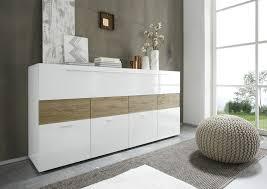 Bahut moderne laqué blanc et couleur chªne