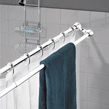 Dual Shower Curtain Hooks Best 25 Shower Rod Ideas On Pinterest Shower Storage Bathroom