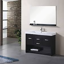 47 5 inch single sink bathroom vanity with soft closing hinges
