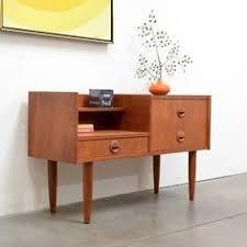 mid century modern entry table 1950s danish modern gunni oman teak entry chest table mid century