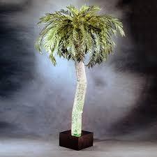 shop midwest tropical 6 33 ft aqua bubbling palm artificial
