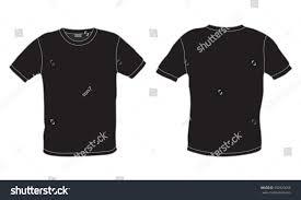 black mens tshirt template vector front stock vector 502920658