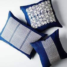 Cuddle Cushion Indigo Dyed Linen Pillow On Food52