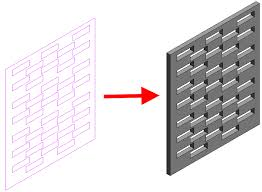 surface pattern revit download create a perforated wall family revit products autodesk