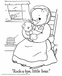 teddy bear coloring pages momma baby bear coloring