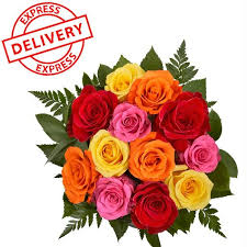 Multicolor Roses Buy Multicolor Roses Bouquet Express Delivery Online Best Prices