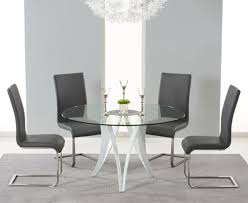 Glass Round Kitchen Table by White Gloss Round Kitchen Table And Chairs Starrkingschool