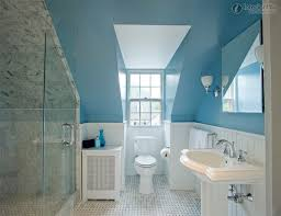 Small Attic Bathroom Sloped Ceiling by Fancy Decorate Attic Bathroom Design Ideas With Blue Ceiling