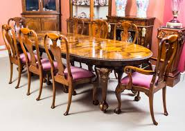 antique queen anne style dining table u0026 8 chairs c 1920