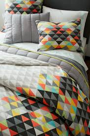triangle bedding triangle pattern bedding west elm simplified bee