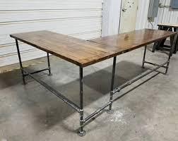 large l desk l shaped desk etsy