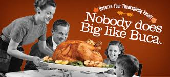 thanksgiving reservations buca di beppo