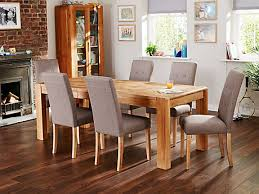 6 Seater Oak Dining Table And Chairs Chair Stunning Dining Table Chairs Wesley Dalla 6 Seat Set Latte