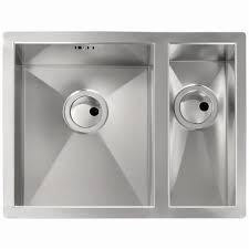 Abode Matrix RO AW  Square Bowl Brushed Stainless Steel - Brushed stainless steel kitchen sinks
