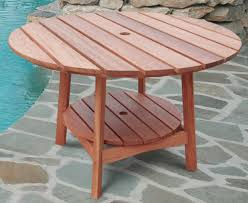 Outdoor Eucalyptus Wood Round Dining Table Traditional Outdoor For