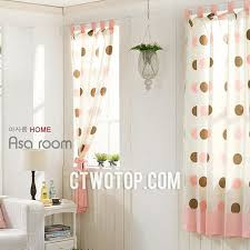 curtains for girls bedroom cute unique girls room cotton organic beige brown pink polka dot