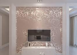 silver leaf pattern washable vinyl wallpaper for household hotel