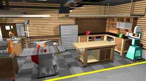 Garage Designs Plans Apartments Awesome Woodshop Workshop Floor Garage Designs