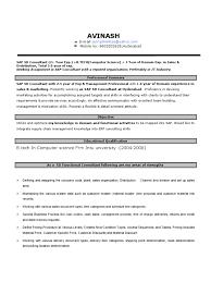 sap mm resume sample for freshers sap sd resume 2 exp sap se sales
