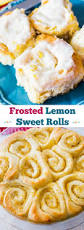 lemon sweet rolls recipe cream cheeses frosting and lemon