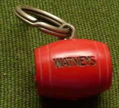 red key rings images Priory antiques watney 39 s red barrel key ring miniture jpg