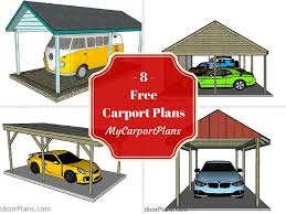 8 free carport plans