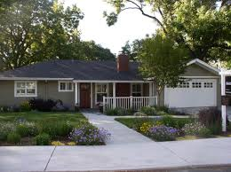 charming gray house exterior paint idea with white window frames