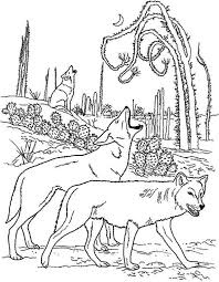 a group of wolf marking their territory coloring page download