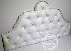 king size black velvet headboard upholstered and tufted with