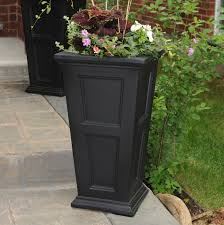 planters marvellous black planter boxes black tall planters