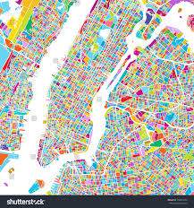 New York City Manhattan Map by New York City Manhattan Colorful Map Stock Vector 590833346