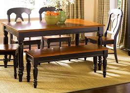 furniture winsome kitchen table bench black rustic seating with