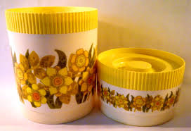 accessories tasty lovely yellow white stripes kitchen canisters