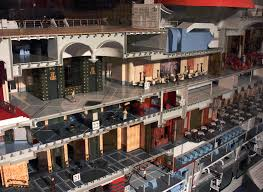 incredible cutaway model of the normandie as seen aboard the queen