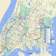 New York Maps by Large Detailed Bronx Bus Map Nyc New York City Bronx Large