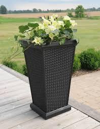 mayne post wellington tall planter black home and garden
