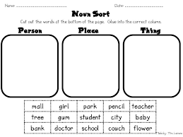 nouns worksheets for 2nd grade worksheets