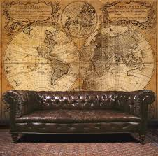 Map Wallpaper Essener Mural Wallpaper G45253 Steampunk Map Room Wall Panel Photo