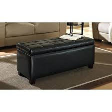 Big Ottoman Table Big Ottoman Black Leather Storage Ottoman Large Tufted