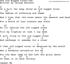 The Old Rugged Cross Hymn Top 500 Hymn The Old Rugged Cross Lyrics Chords And Pdf